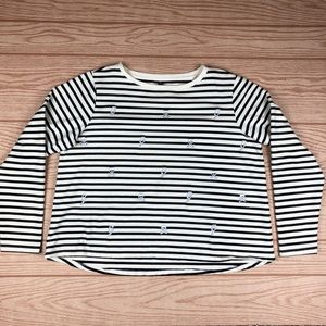 BETSY JOHNSON Performance Striped Pull Over